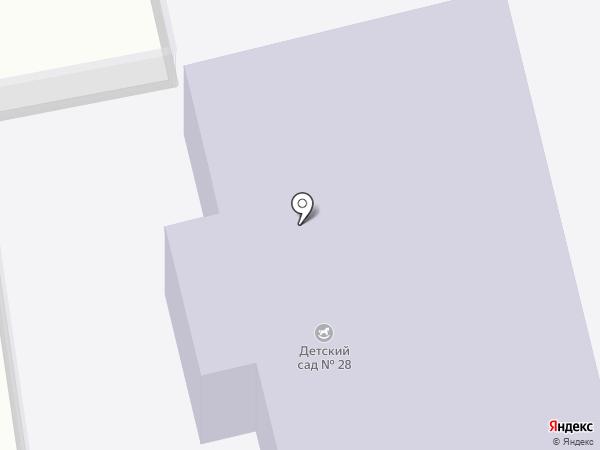 Детский сад №28 на карте Прокопьевска