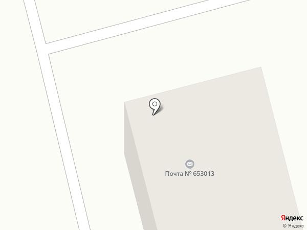 Почтовое отделение №13 на карте Прокопьевска