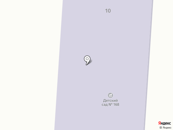 Детский сад №168 на карте Прокопьевска