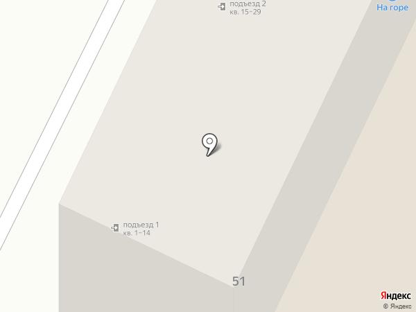 На горе на карте Прокопьевска
