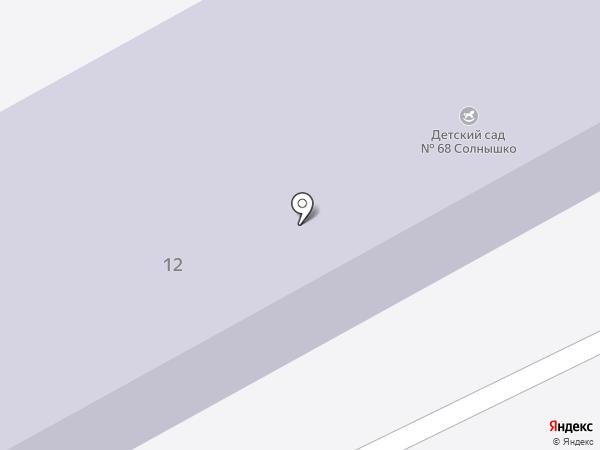 Детский сад №68, Солнышко на карте Прокопьевска