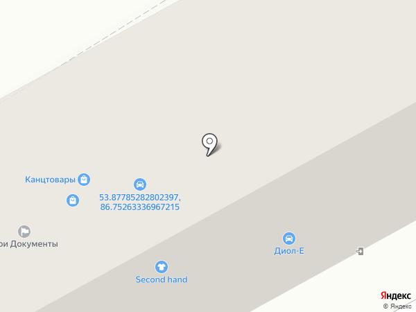 Гранит на карте Прокопьевска