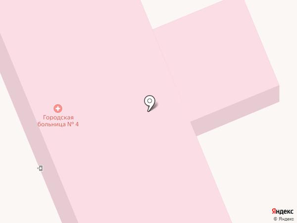 Городская больница №4 на карте Прокопьевска