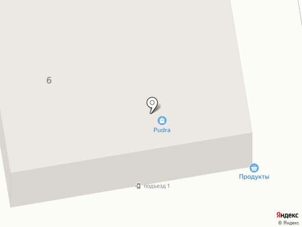 Продуктовый магазин на ул. Черных на карте Прокопьевска