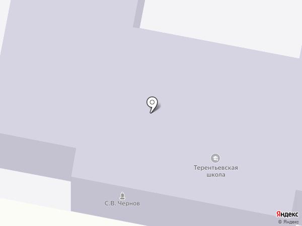 Терентьевская средняя общеобразовательная школа на карте Терентьевского