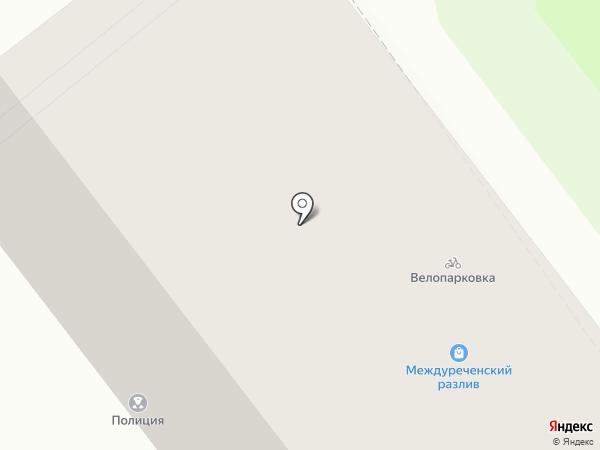 Междуреченский разлив на карте Новокузнецка