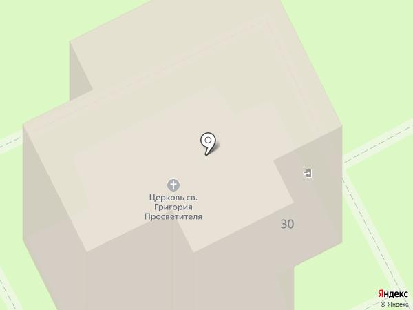 Храм Святого Григория Просветителя на карте Сосновки