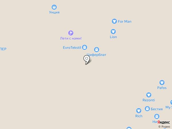 Еврочехол на карте Новокузнецка