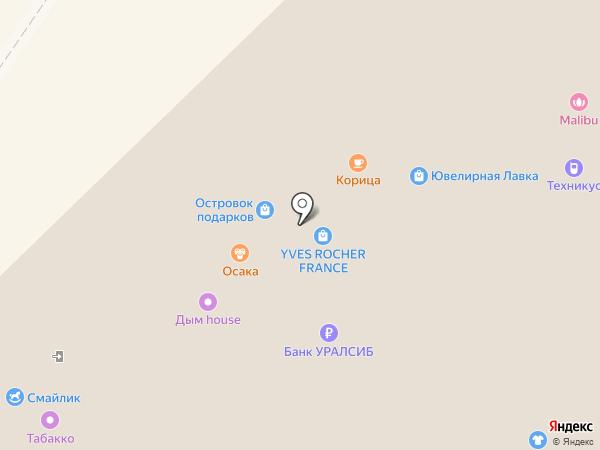 Весёлая расческа на карте Новокузнецка