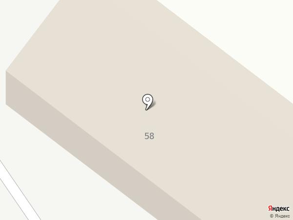 Деревянная лавка на карте Сосновки