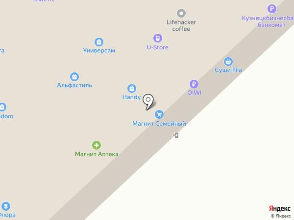 Овсянка на карте Новокузнецка