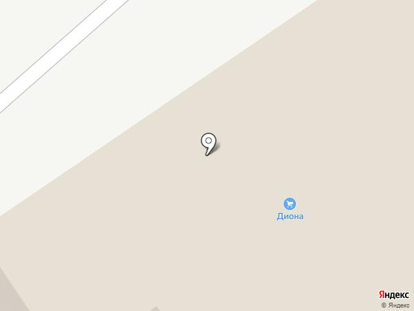 Диона на карте Новокузнецка