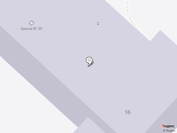 Основная общеобразовательная школа №29 на карте Калтана
