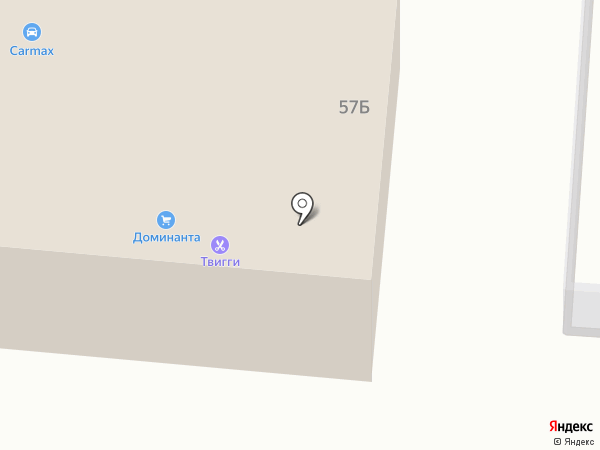 Твигги на карте Калтана