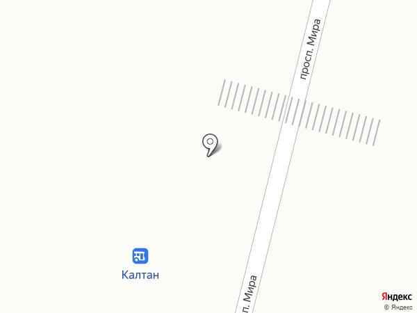 Утёнок на карте Калтана