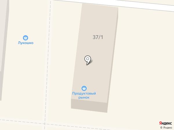 Лукошко на карте Калтана