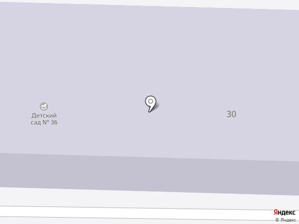 Детский сад №36, Тополек на карте Осинников