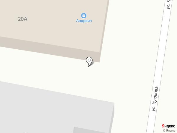 Андреич на карте Сидорово