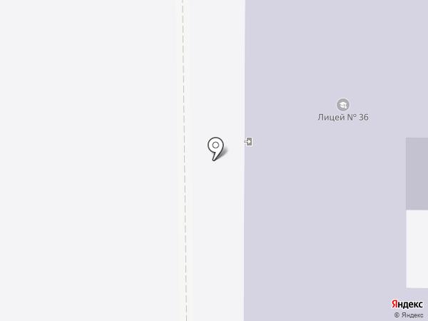 Лицей №36 на карте Осинников
