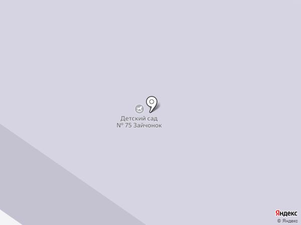 Детский сад №75, Зайчонок на карте Норильска
