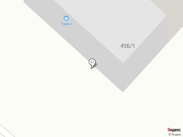 Тайга на карте Норильска