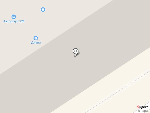 Диана на карте Норильска