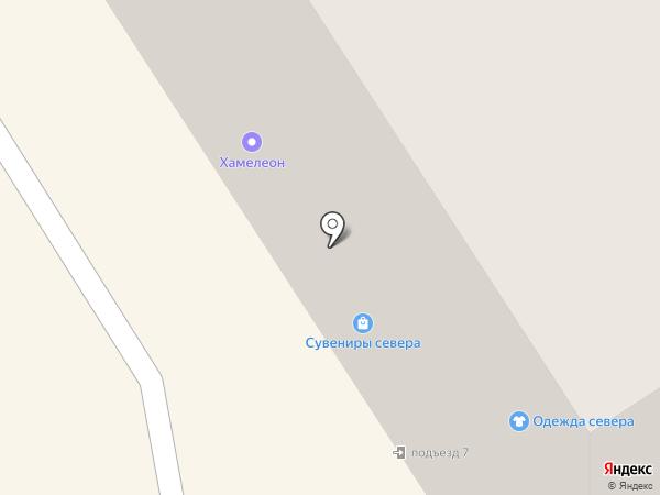 Хамелеон на карте Норильска