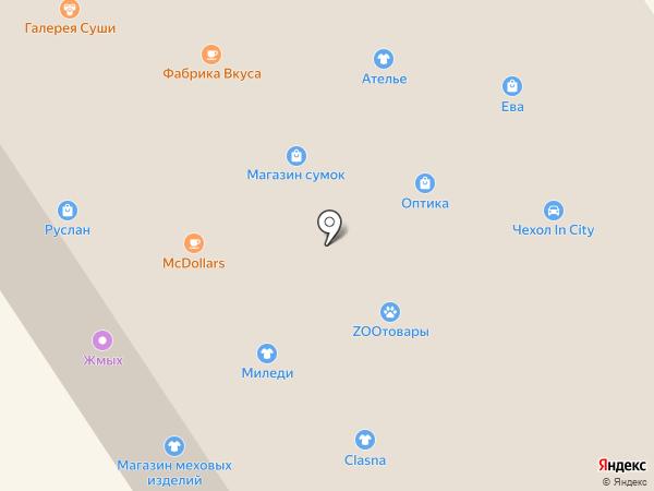 Силуэт на карте Норильска