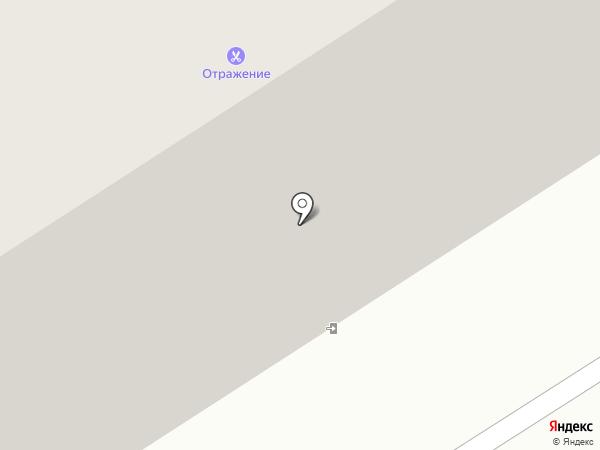 Отражение на карте Норильска