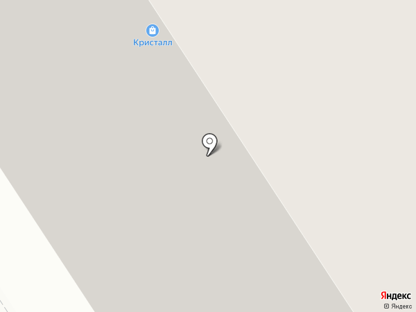 Кристалл на карте Норильска