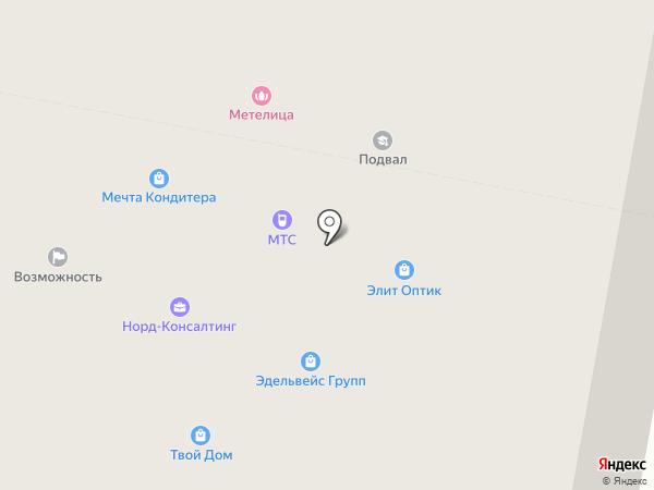 Норильчанка на карте Норильска