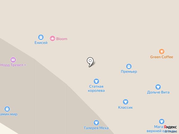 Зебра на карте Норильска