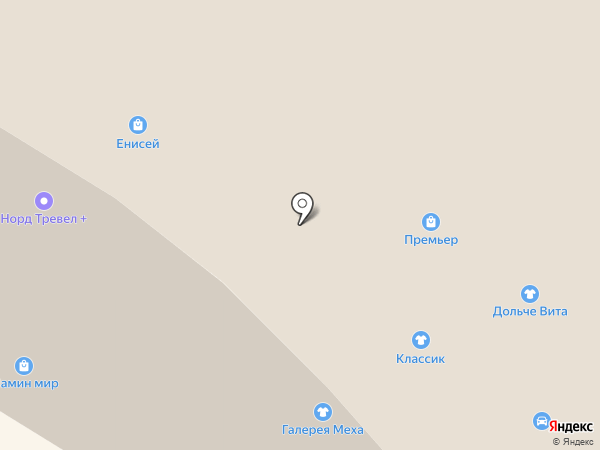 Ягуар на карте Норильска
