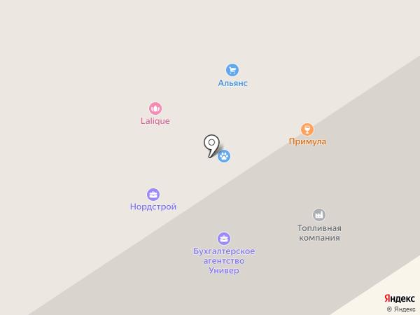 Стибор на карте Норильска