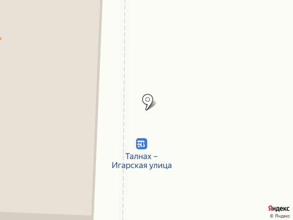 Штрек на карте Норильска
