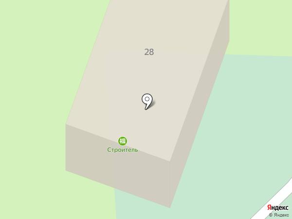 Строитель на карте Норильска