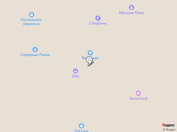 Сакура на карте Норильска