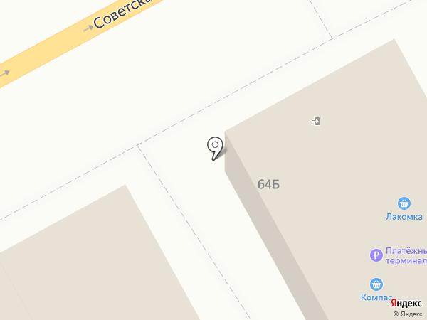 Лакомка на карте Черногорска