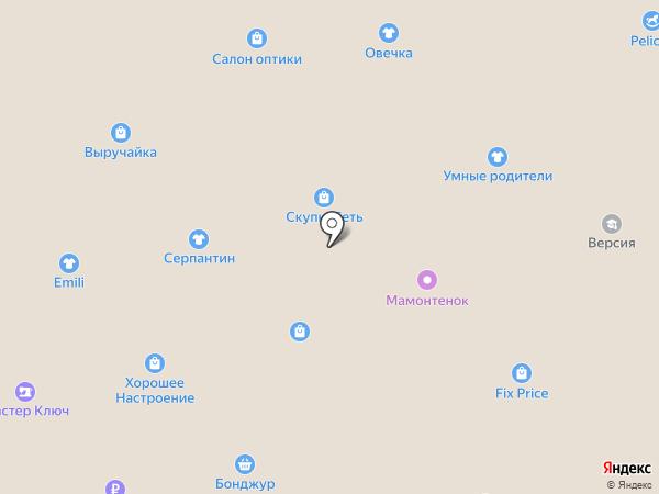 Поляна на карте Черногорска