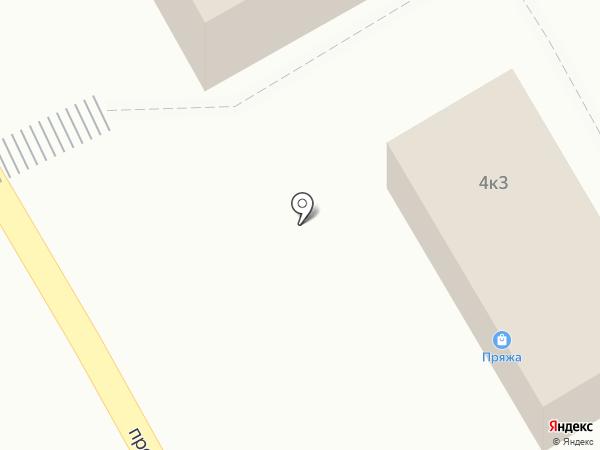 Магазин цветов на проспекте Космонавтов на карте Черногорска