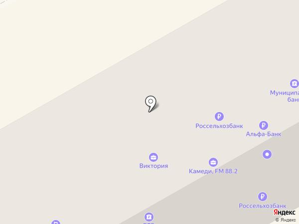 Юничел на карте Черногорска