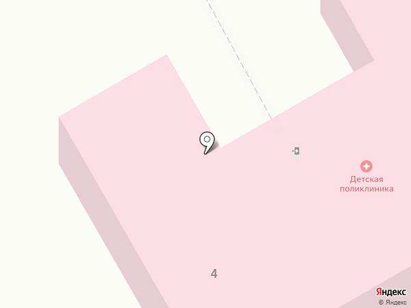 Усть-Абаканская детская поликлиника на карте Усть-Абакана