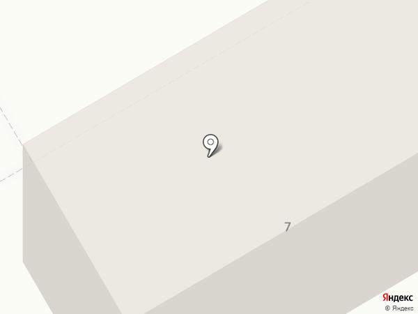 Магнит на карте Абакана