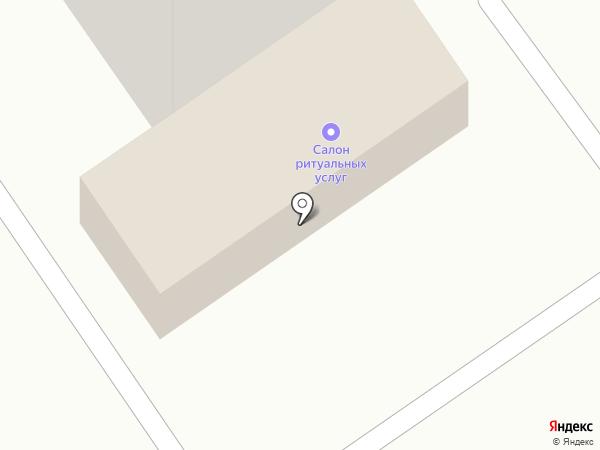 Салон ритуальных услуг на карте Абакана