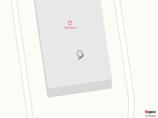 Караван на карте Абакана