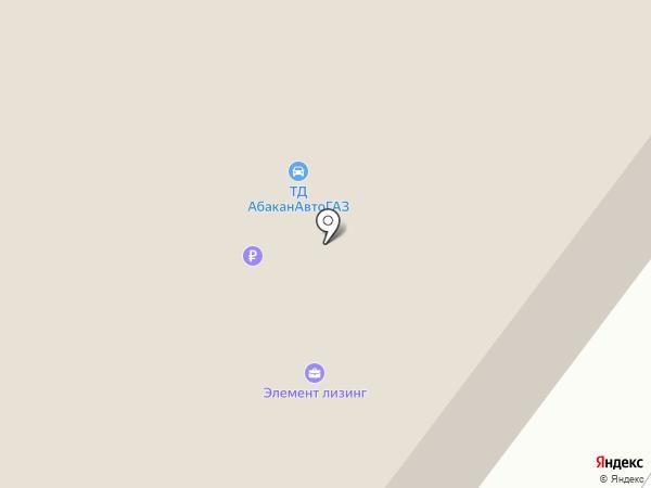 АбаканАВТОГАЗ, ООО, автоцентр ГАЗ на карте Абакана