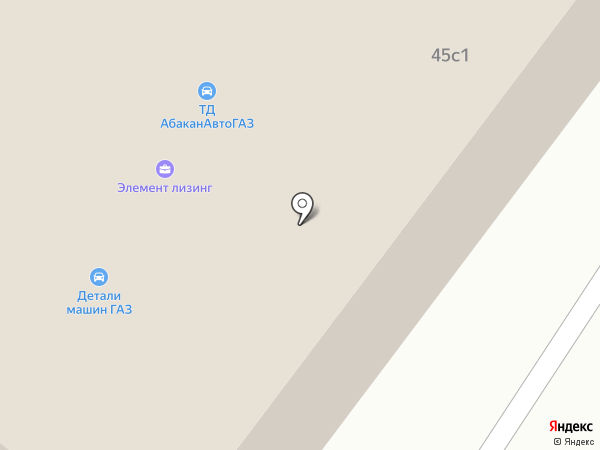 Элемент лизинг на карте Абакана