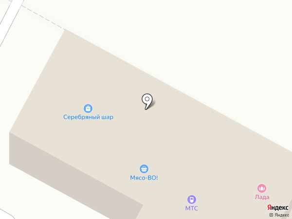 Серебряный шар на карте Черёмушек