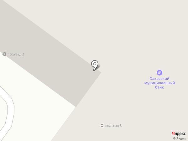 Банкомат, Хакасский муниципальный банк на карте Абакана