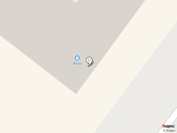 Атон на карте Абакана